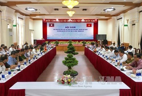 Localidades vietnamita y laosiana intensifican cooperacion multifacetica hinh anh 1