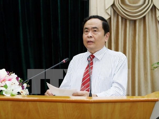 Frentes de Vietnam y Laos buscan intensificar nexos bilaterales hinh anh 1