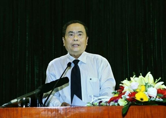 Presidente del Frente de Patria de Vietnam aboga por estrechar nexos con Laos hinh anh 1