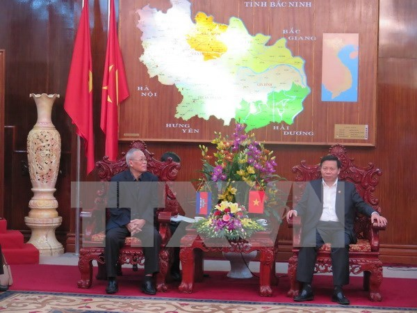 Delegacion del Partido Popular de Camboya visita Bac Ninh hinh anh 1