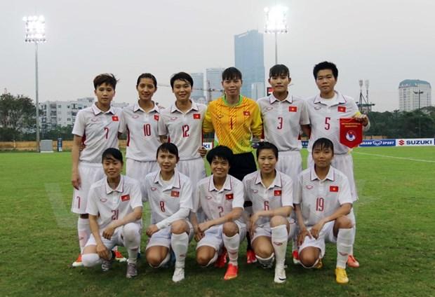 Seleccion femenina de futbol de Vietnam aspira al oro en SEA Games 29 hinh anh 1