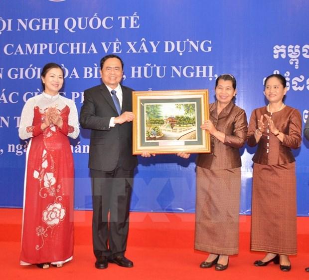 Vietnam y Camboya comprometidos a construir una frontera de paz hinh anh 1