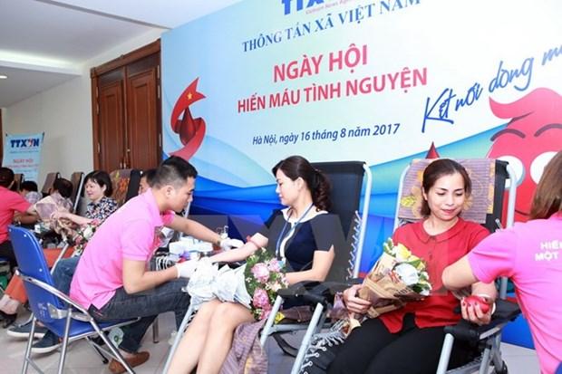 Agencia Vietnamita de Noticias se suma a programa de donacion de sangre hinh anh 1