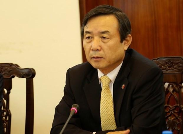 """Condecoran a diplomatico sudcoreano con medalla """"Por la paz y amistad entre los pueblos"""" hinh anh 1"""