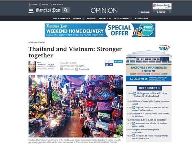 Medios de prensa tailandeses destacan perspectivas en relaciones con Vietnam hinh anh 1