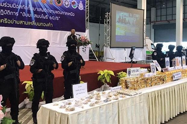 Tailandia incauta cuatro millones de pildoras de metanfetamina hinh anh 1