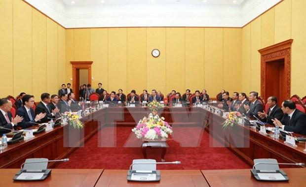 Unidades de seguridad de Vietnam, Laos y Camboya intensifican cooperacion hinh anh 1