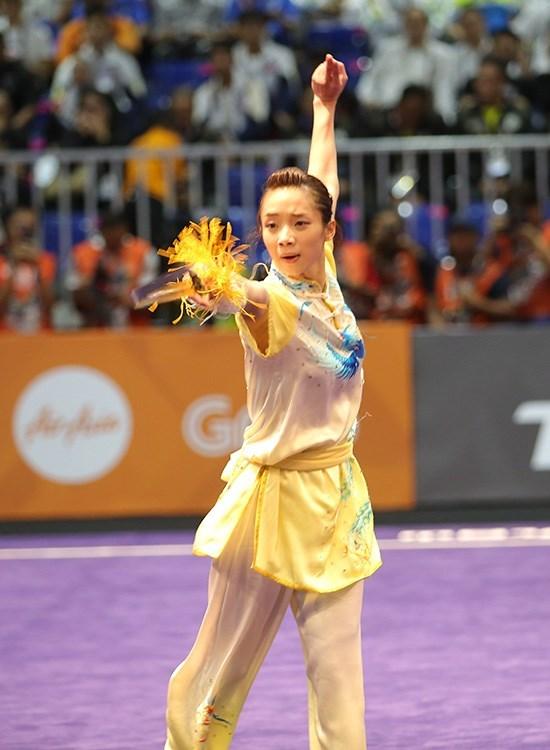 Wushu conquista primera presea dorada para Vietnam en SEA Games 29 hinh anh 1