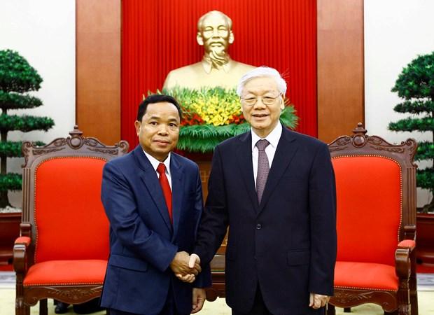 Intensifican nexos partidistas Vietnam-Laos hinh anh 1