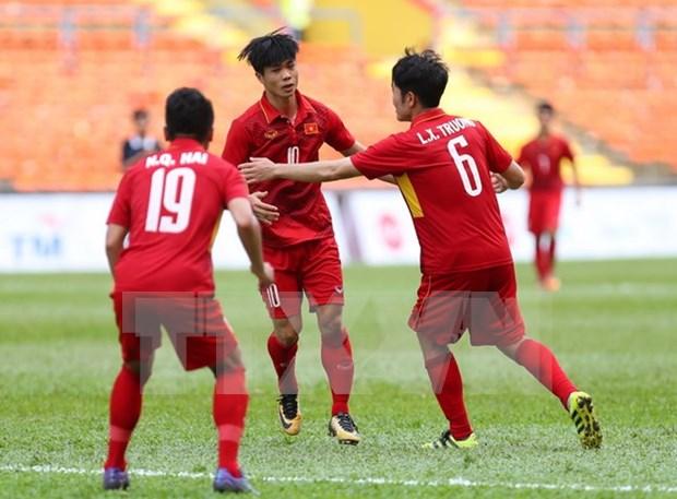 SEA Games 29: equipo futbolistico de Vietnam logra tercera victoria consecutiva hinh anh 1