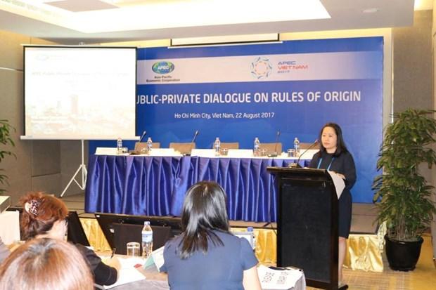 Reglas de origen ayudan a APEC a prepararse ante Area de Libre Comercio Asia-Pacifico hinh anh 1