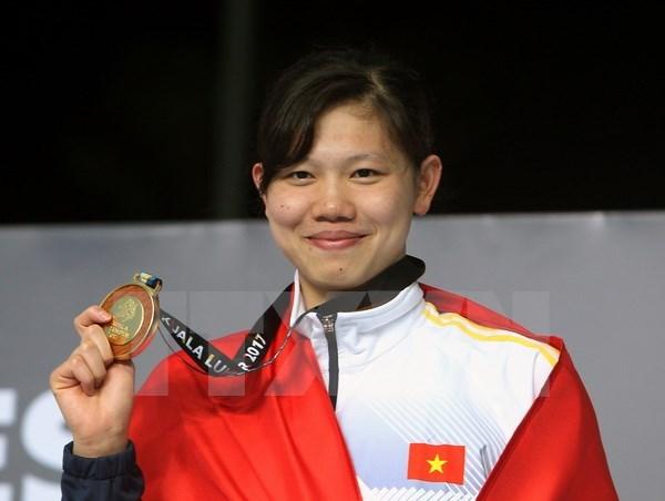 Vietnam se situa en tercer lugar en medallero de SEA Games 29 en segunda jornada hinh anh 1