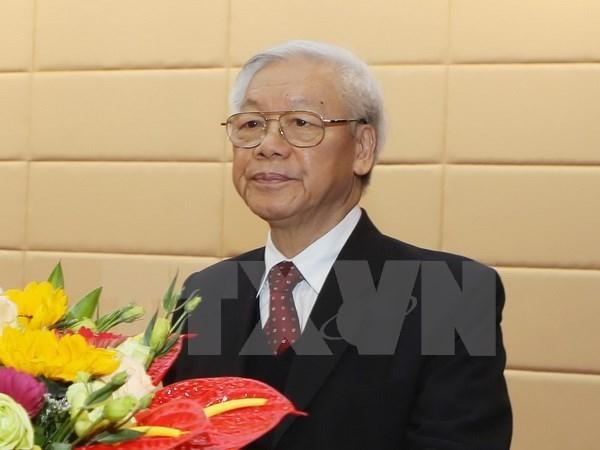 Secretario general del PCV parte para visitas a Indonesia y Myanmar hinh anh 1