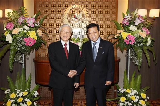 Maximo dirigente politico de Vietnam se reune con presidente de Camara Baja de Indonesia hinh anh 1