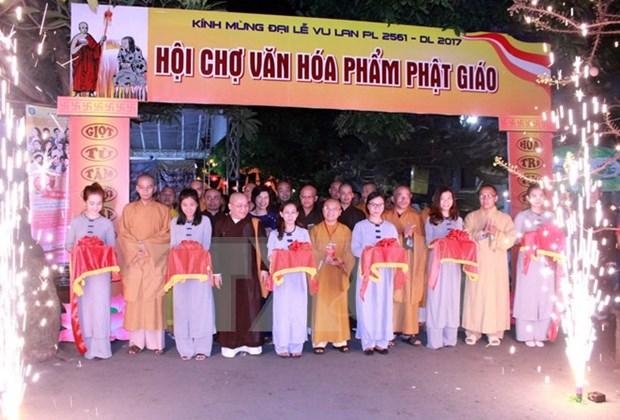 Realizan en Ciudad Ho Chi Minh diferentes actividades conmemorativas a la ceremonia Vu Lan hinh anh 1