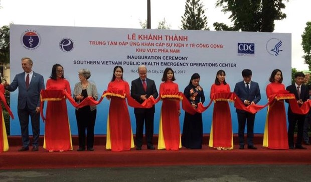 Inauguran centro de operaciones de emergencias sanitarias en region surena de Vietnam hinh anh 1