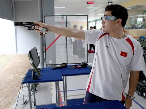 Vietnam obtiene medalla de oro en pistola rapida de 25 metros hinh anh 1
