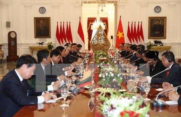 Visita oficial de secretario general del PCV a Indonesia: hito importante en lazos bilaterales hinh anh 1