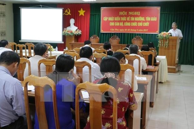 Vietnam y Laos analizan asuntos religiosos hinh anh 1