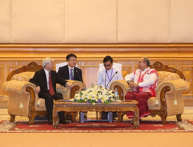 Cooperacion interparlamentaria, pilar de relaciones politicas Vietnam-Myanmar hinh anh 1