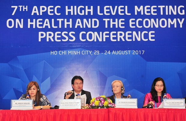 Fructiferos resultados de reunion de alto nivel sobre salud y economia de APEC hinh anh 1