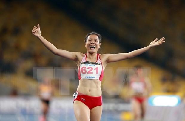 Atletismo de Vietnam sigue cosechando oros en los SEA Games 29 hinh anh 1