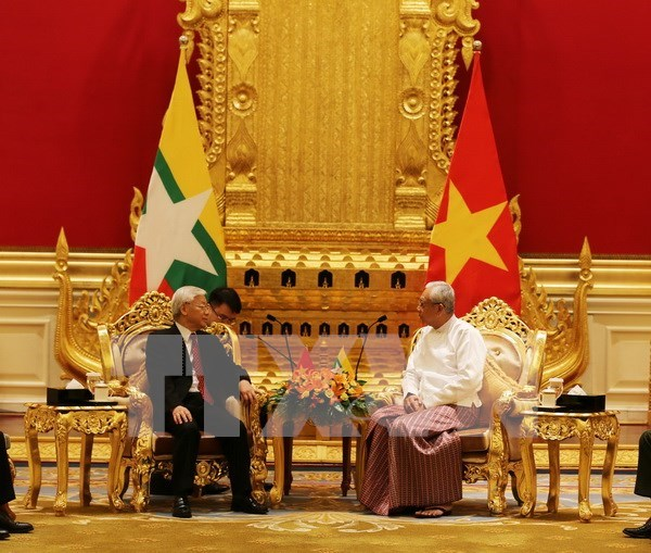 Vietnam y Myanmar establecen asociacion estrategica hinh anh 1