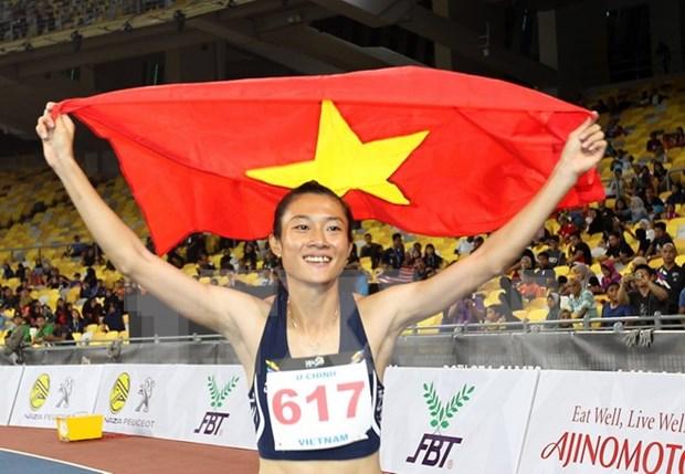 SEA Games 29: Atleta vietnamita reina en carreras de 100 y 200 metros hinh anh 1
