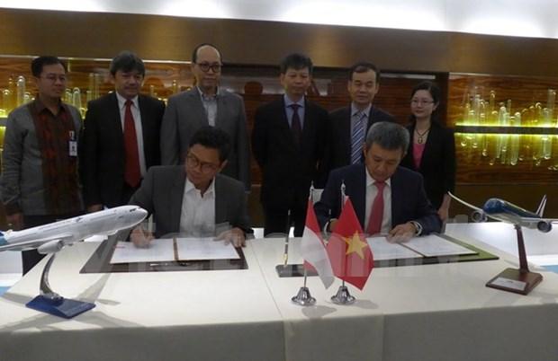 Vietnam Airlines y Garuda Indonesia amplian cooperacion hinh anh 1