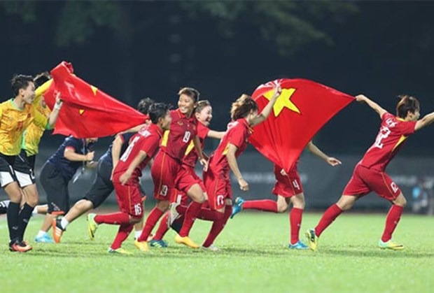 SEA Games 29: Vietnam se corona en futbol femenino hinh anh 1