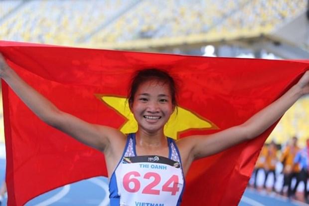 Corredora vietnamita continua su buena racha con segundo oro en SEA Games 29 hinh anh 1