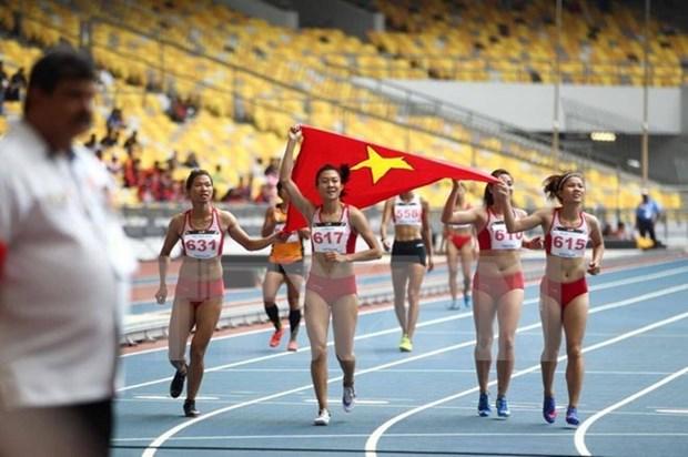 Atletismo vietnamita consigue su duodecimo oro en SEA Games 29 hinh anh 1
