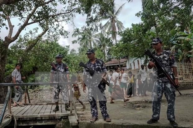 Fallecen 12 personas en asalto contra puestos policiales en Myanmar hinh anh 1