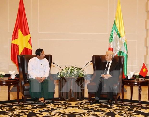 Enriquecen cooperacion entre el PCV y partidos de Myanmar hinh anh 1