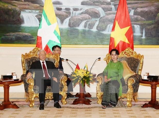 Lazos partidistas Vietnam- Myanmar: fundamento para progreso dinamico nacional hinh anh 1
