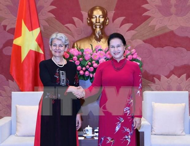 Presidenta parlamentaria vietnamita destaca cooperacion con UNESCO hinh anh 1