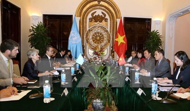 Resaltan papel de Vietnam en los enlaces entre UNESCO y ASEAN hinh anh 1