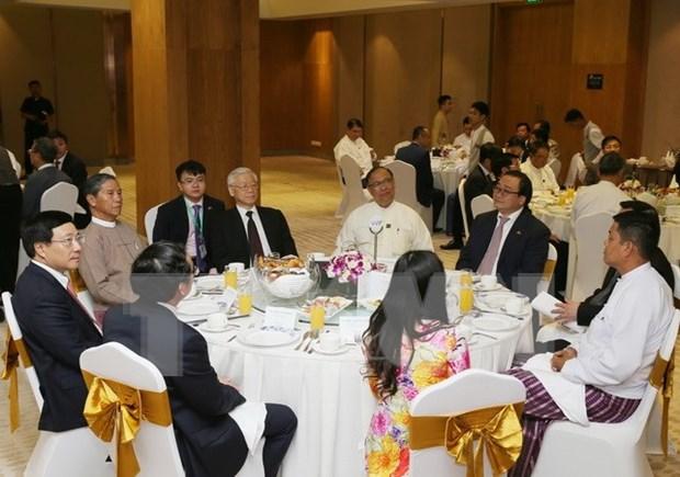 Vicepremier vietnamita destaca potencialidades de cooperacion economica con Myanmar hinh anh 1