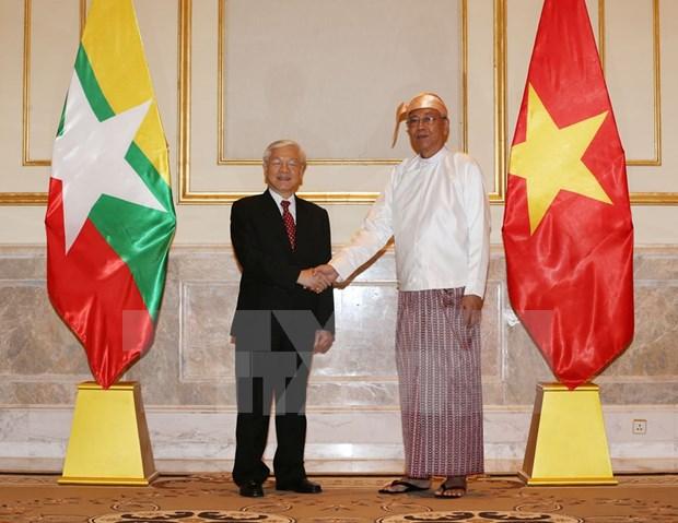 Vietnam y Myanmar establecen Asociacion Cooperativa Integral hinh anh 1
