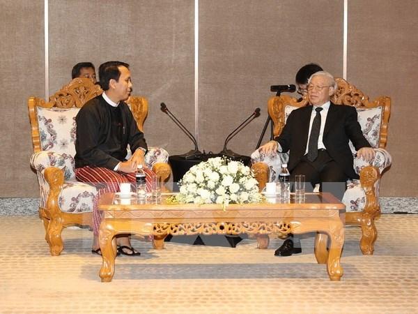 Dirigente partidista vietnamita aboga por cooperacion interlocal con Myanmar hinh anh 1