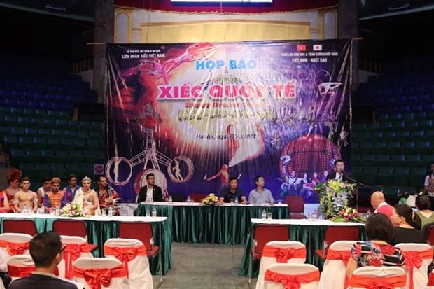 Espectaculo circense saludara aniversario de nexos Vietnam- Japon hinh anh 1