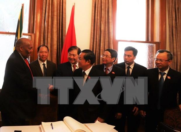 Parlamentos de Vietnam y Sudafrica intensifican colaboracion legislativa hinh anh 1