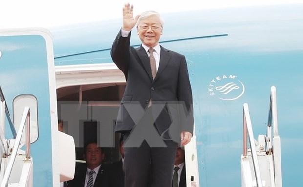 Secretario general del Partido Comunista de Vietnam concluye gira por Indonesia y Myanmar hinh anh 1