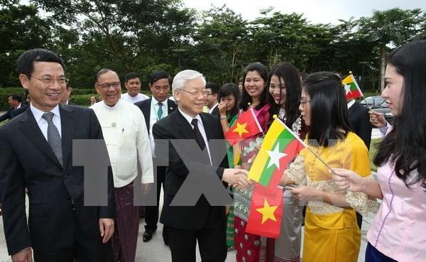 Destacan significado de visitas a Indonesia y Myanmar de dirigente partidista vietnamita hinh anh 1