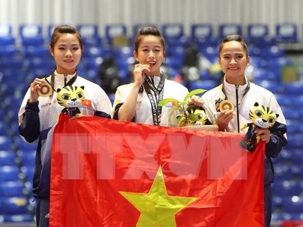 Vietnam alcanza meta de medallas de oro en SEA Games 29 hinh anh 1