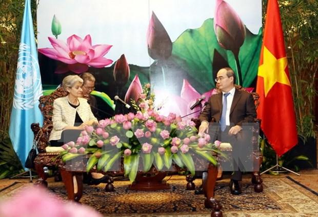 Ciudad Ho Chi Minh y UNESCO acuerdan intensificar cooperacion multifacetica hinh anh 1