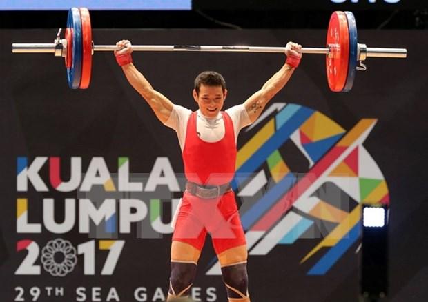 SEA Games 29: Vietnam gana medalla de oro en levantamiento de pesas hinh anh 1