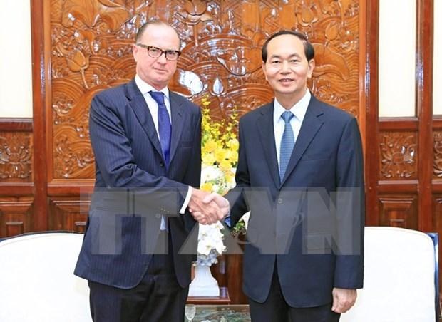 Recibe presidente vietnamita a embajadores salientes de Eslovaquia y Austria hinh anh 1