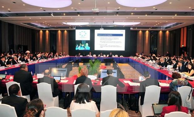 Comienza en Ciudad Ho Chi Minh tercera conferencia de altos funcionarios del APEC hinh anh 1