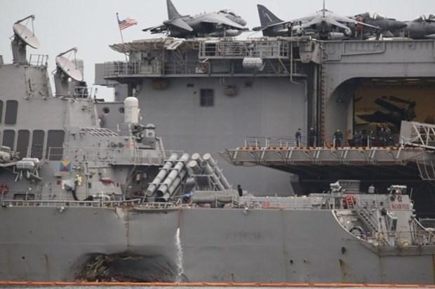 Malasia realiza investigacion especial sobre choque entre destructor estadounidense y petrolero hinh anh 1
